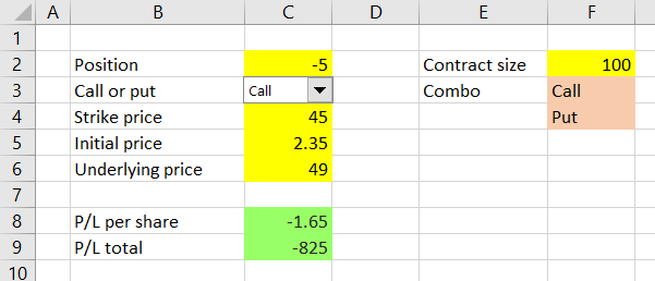 calculating option strategy payoff in excel macroption